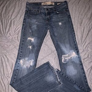Hollister Venice Boot Distressed Jeans